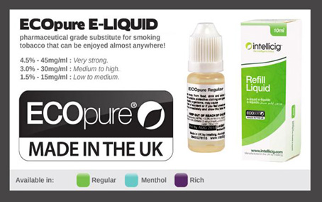VG e liquids. Ecovape, Vpure and ecopure. Best e juice in the uk