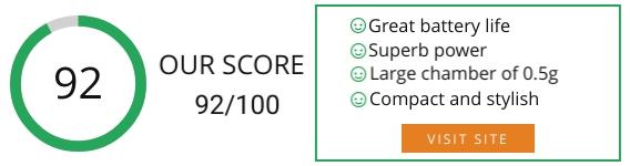 Mig Vapor Khan Dry Herb Vaporizer Review Score