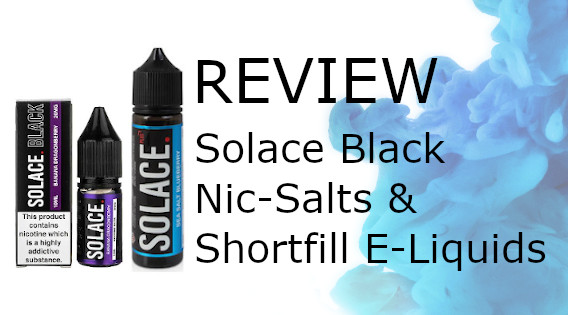 Solace Black Edition shortfill and nicotine salts review