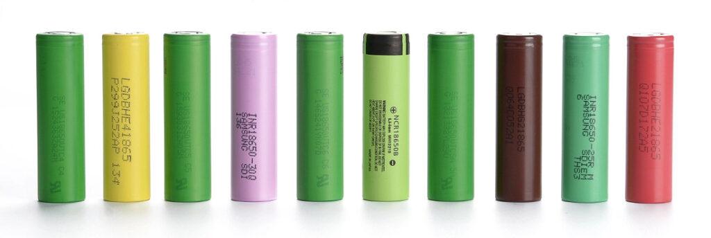 Various 18650 Vape Batteries