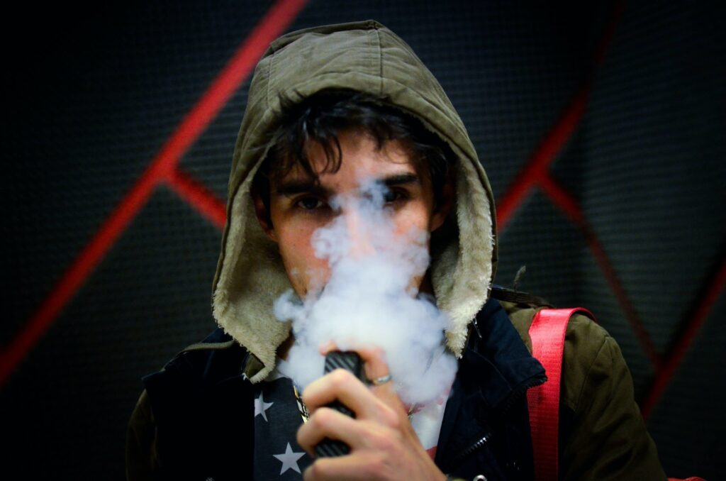 Teenager Vaping Electronic Cigarette